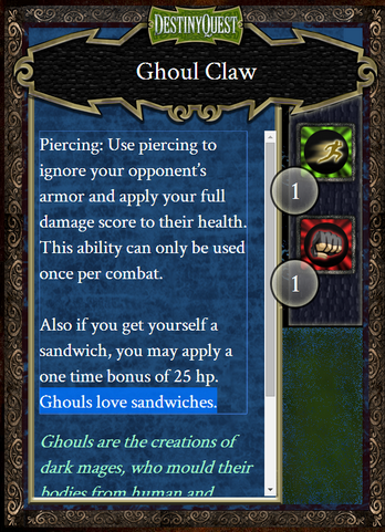 Ghoul Claw