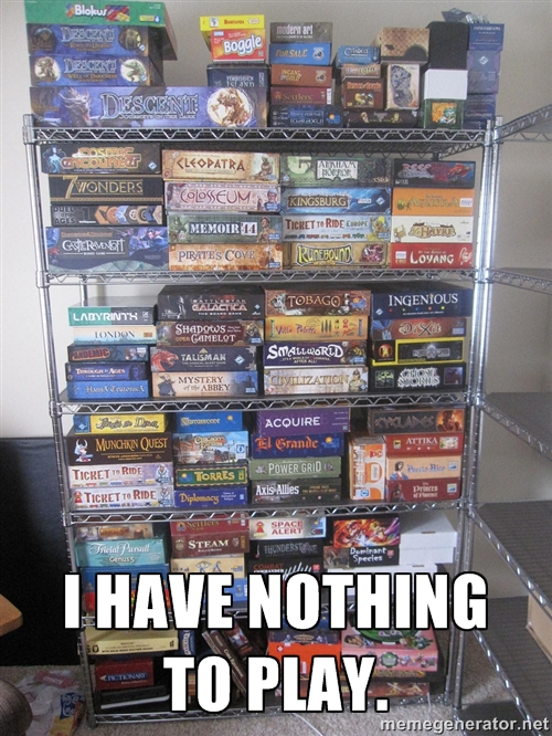 Nothing to play meme