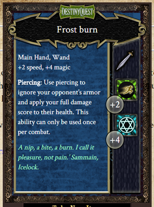 DQI Weapon - Frost Burn